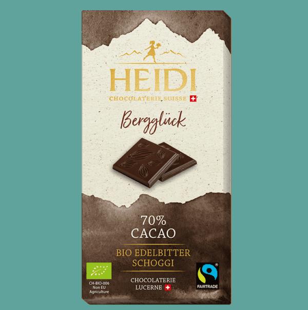 Bergglück Cacao 70 Prozent Edelbitter
