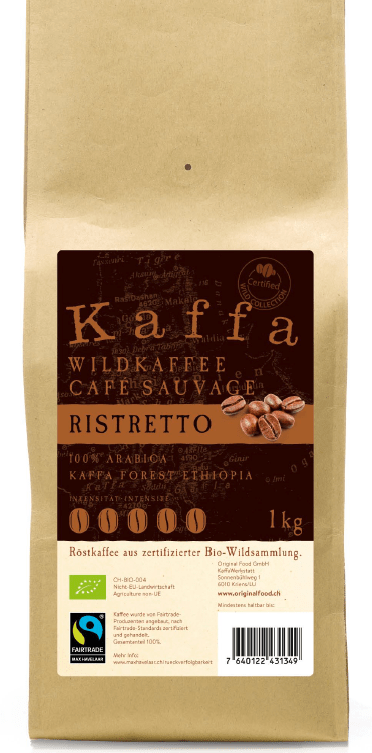Wildkaffe Ristretto, Bohnen