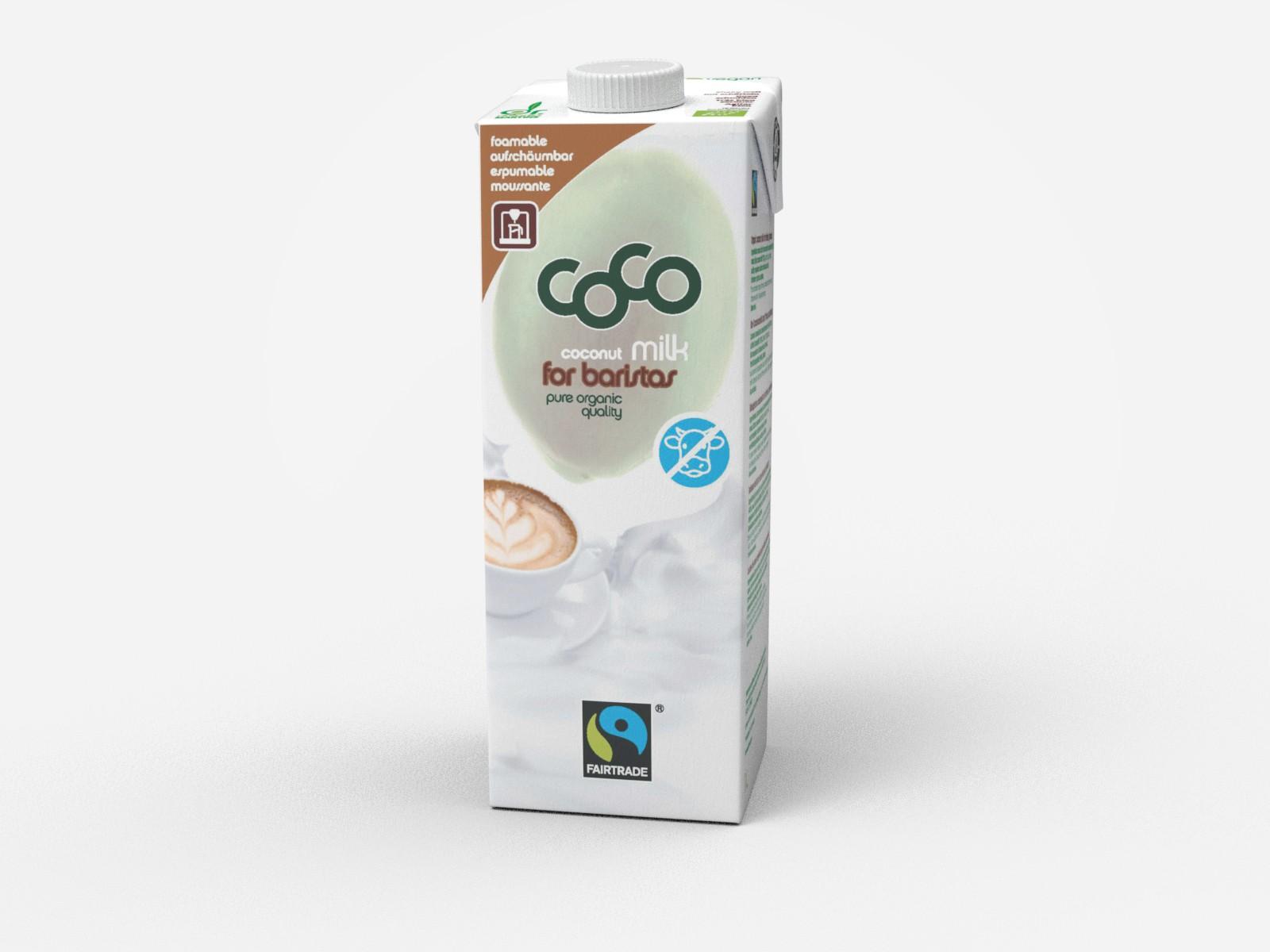 Kokosnussmilch zum Trinken, aufschäumbar 1l