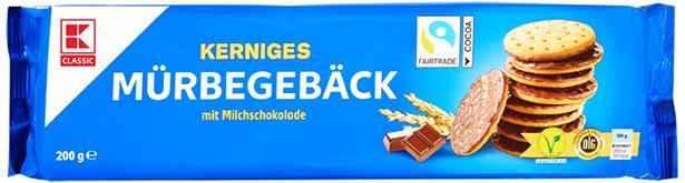 KLC Mürbeteiggebäck mit Milchschokolade 200 g INT