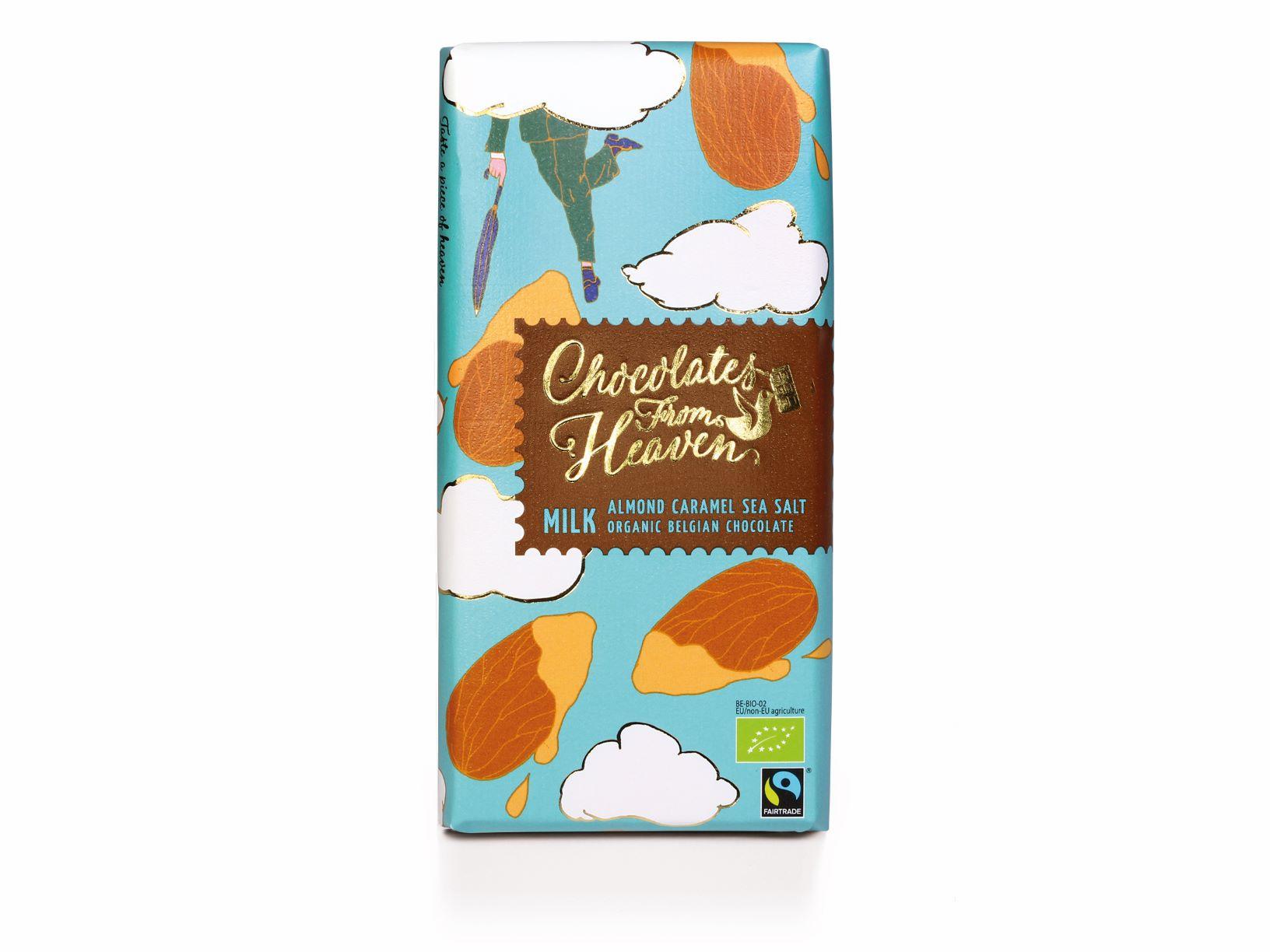 Green Dream – Chocolat au lait au caramel et sel de mer – 85 gr