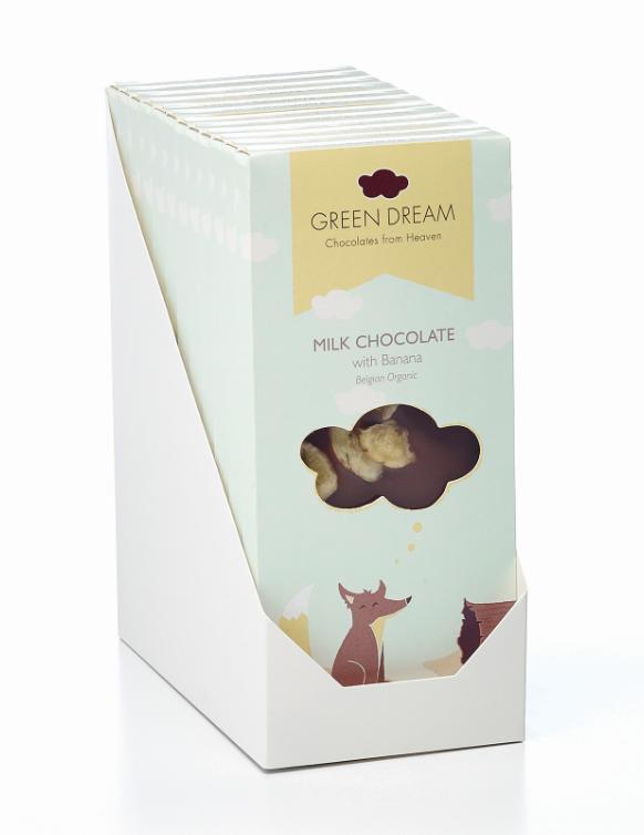 Green Dream - Chocolat au lait à la banane - 85 gr