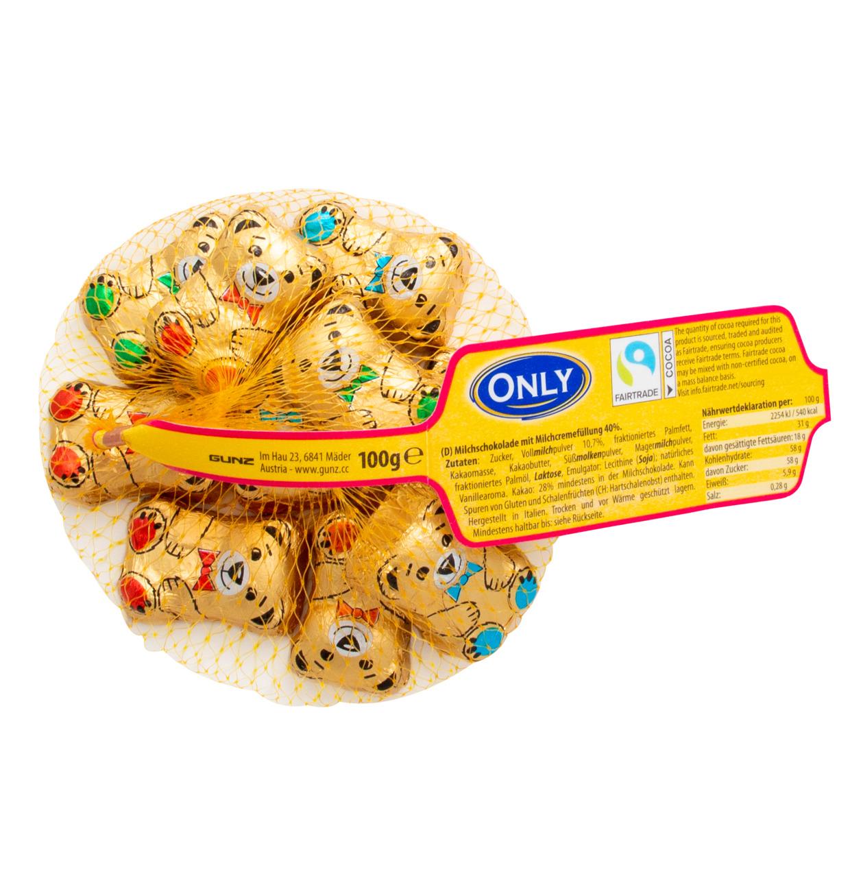 Goldbären Milchschokolade mit Milchcremefüllung