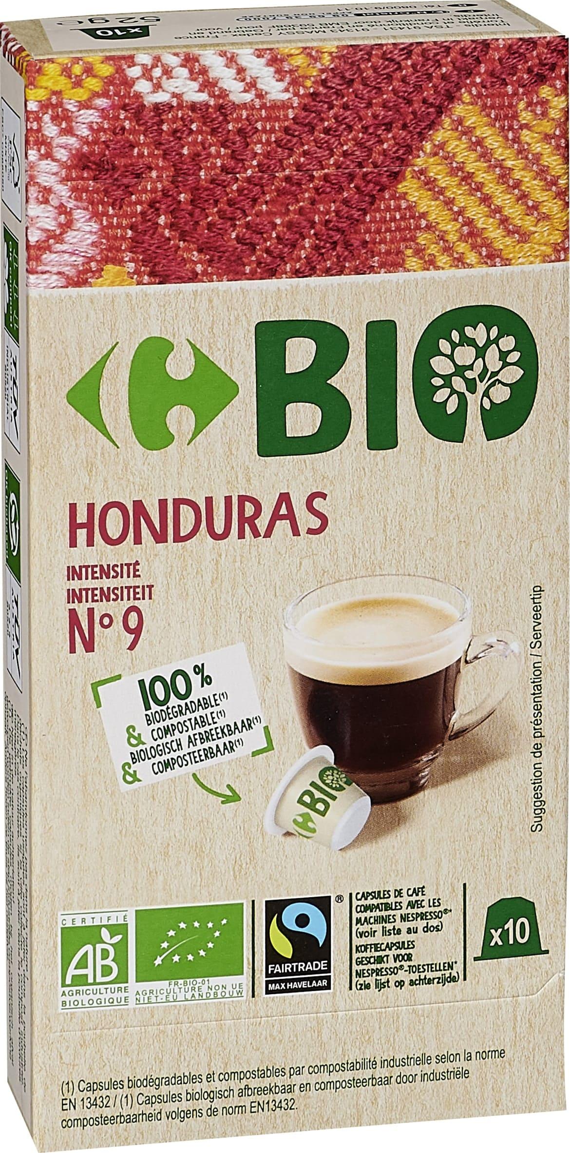 Capsules de cafe type nespresso compostable BIo degradable HONDURAS
