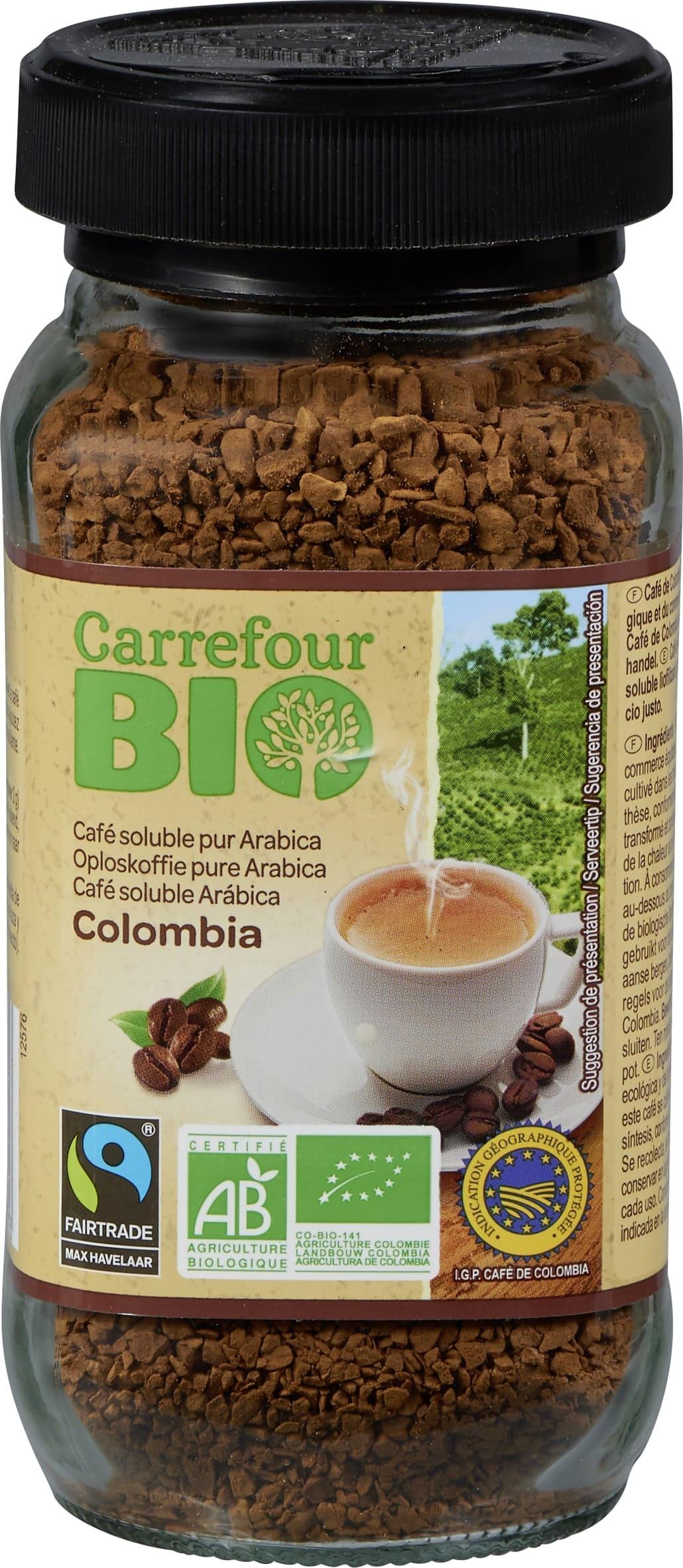 Café soluble Colombie BIO