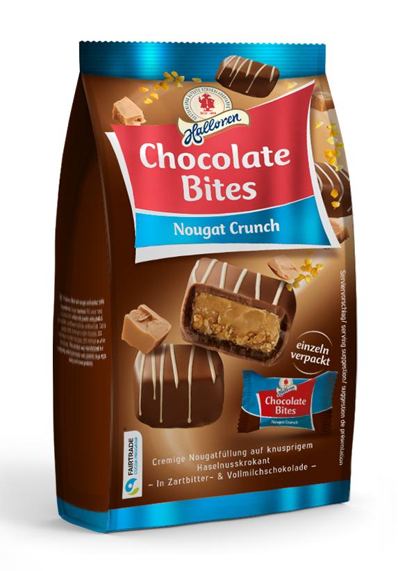Halloren Chocolate Bites Nougat Crunch