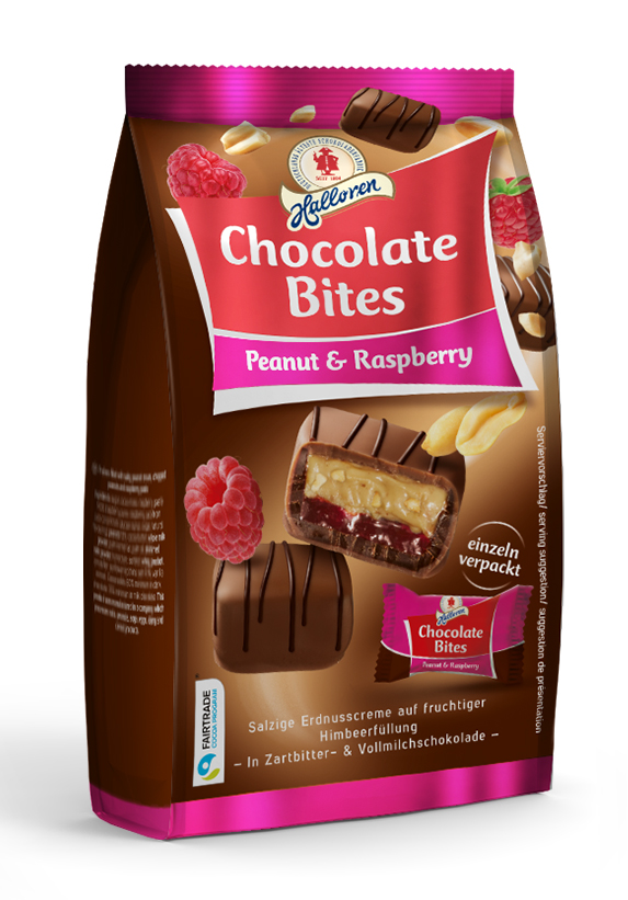 Halloren Chocolate Bites Peanut & Raspberry