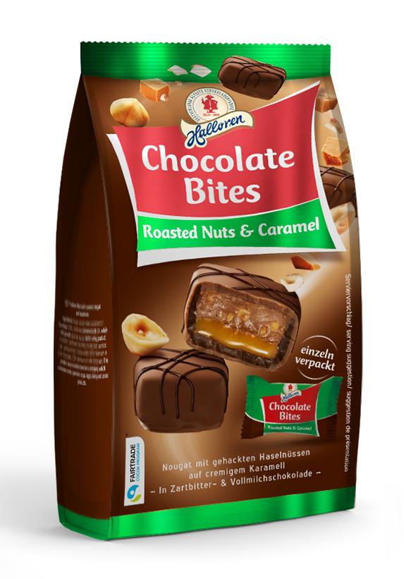 Halloren Chocolate Bites Roasted Nuts & Caramel