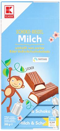KLC Schokostäbchen Milchcreme 200g