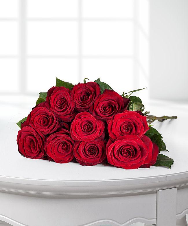 Rosen rot 18er-Bund, 40 cm