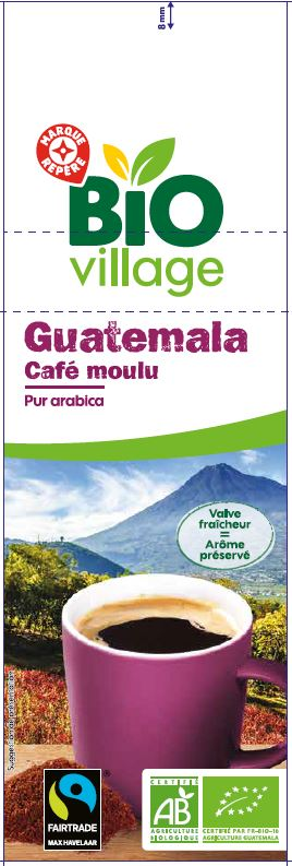 CAFE MOULU ARABICA GUATEMALA BIO VILLAGE 250G