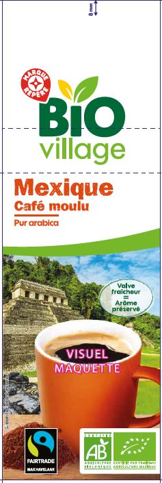 CAFE MOULU ARABICA  MEXIQ BIO 250G