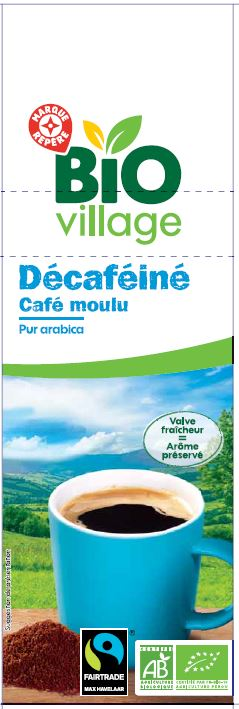 CAFE MOULU DECAFEINE 250G BIO
