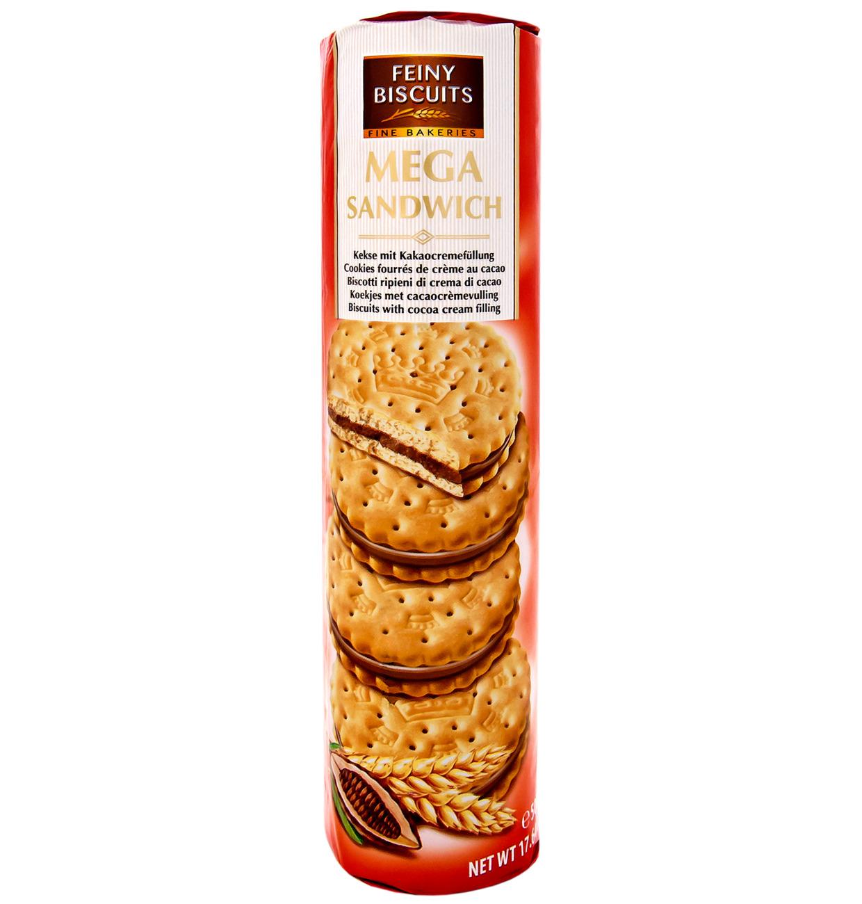 Mega Sandwich Kekse mit Kakaocremefüllung 500g