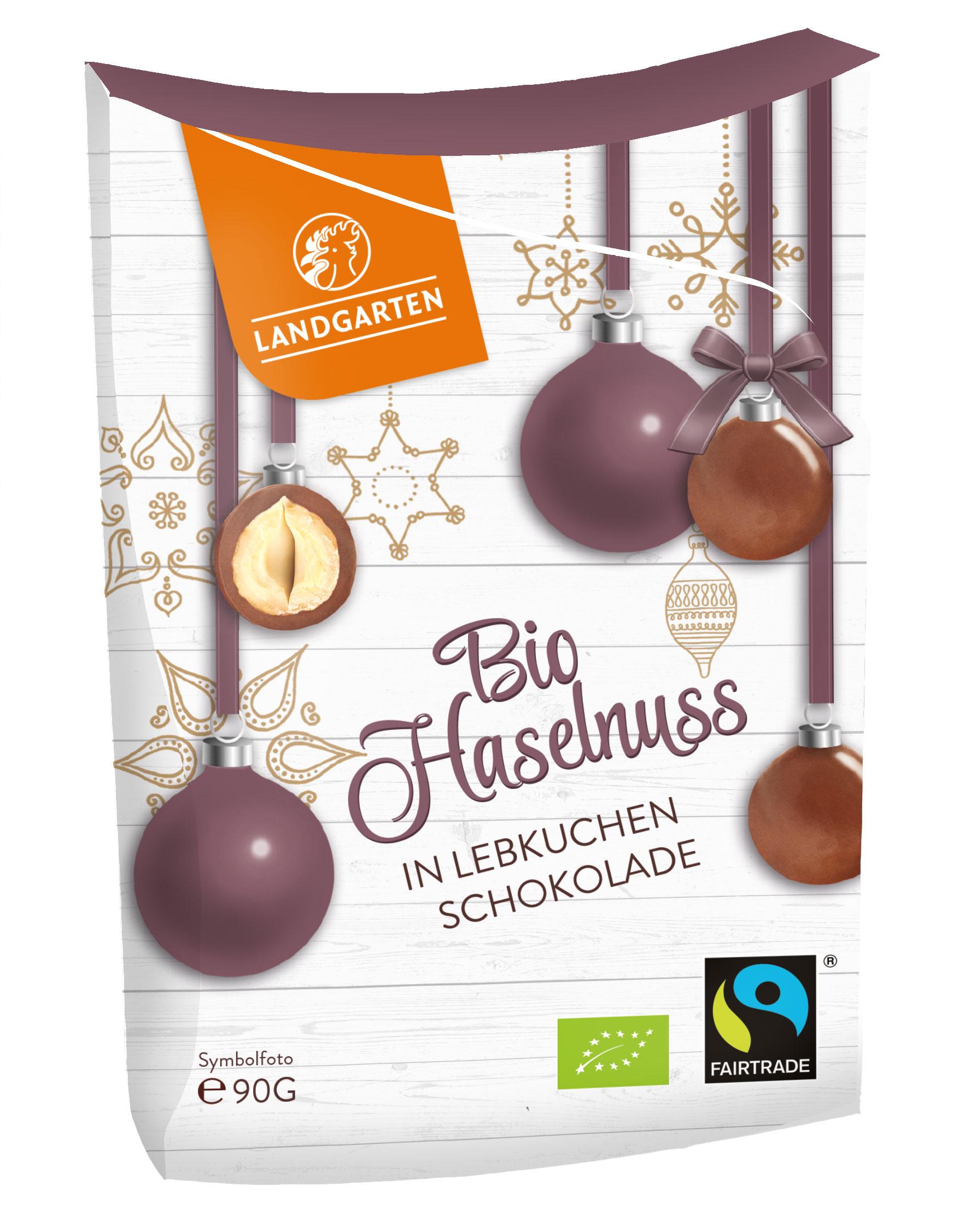 Bio FT Haselnüsse in Vollmilch-Lebkuchen-Schokolade 90g
