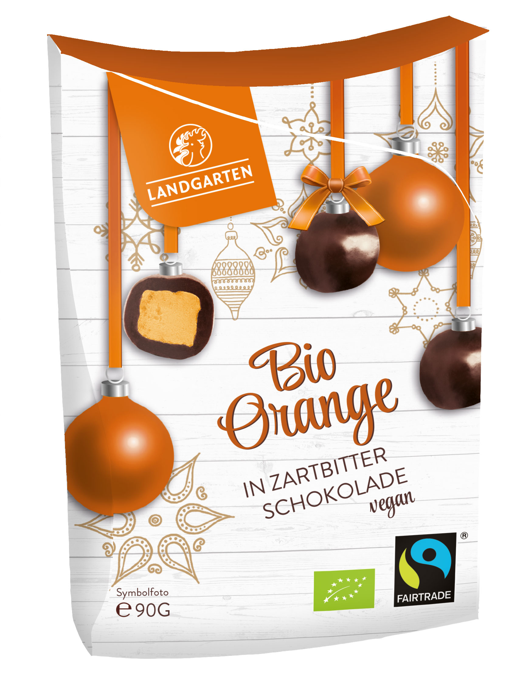 Bio FT Orange in Zartbitterschokolade 90g