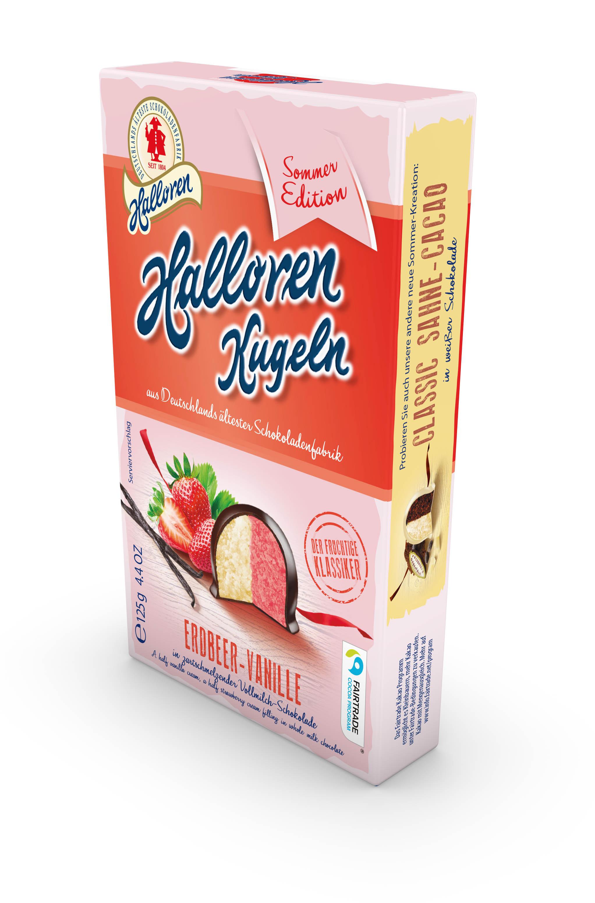 Original Halloren Kugeln Erdbeer-Vanille
