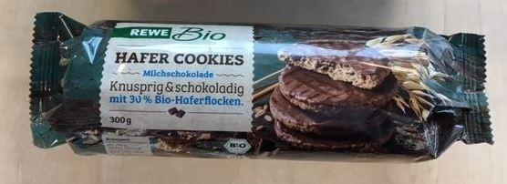 REWE Bio Hafer Cookies Vollmilchschokolade