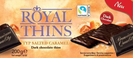 Royal Thins Caramel & Seasalt Zartbitter