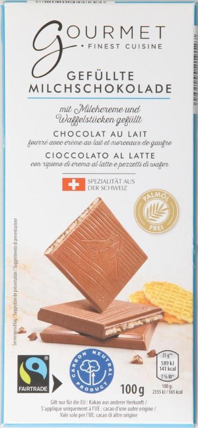 Milchschokolade mit Cookies