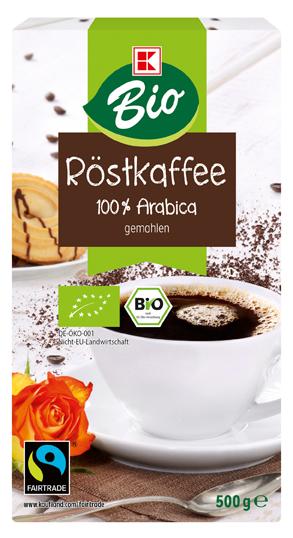K-Bio Kaffee gemahlen 500g Fairtrade
