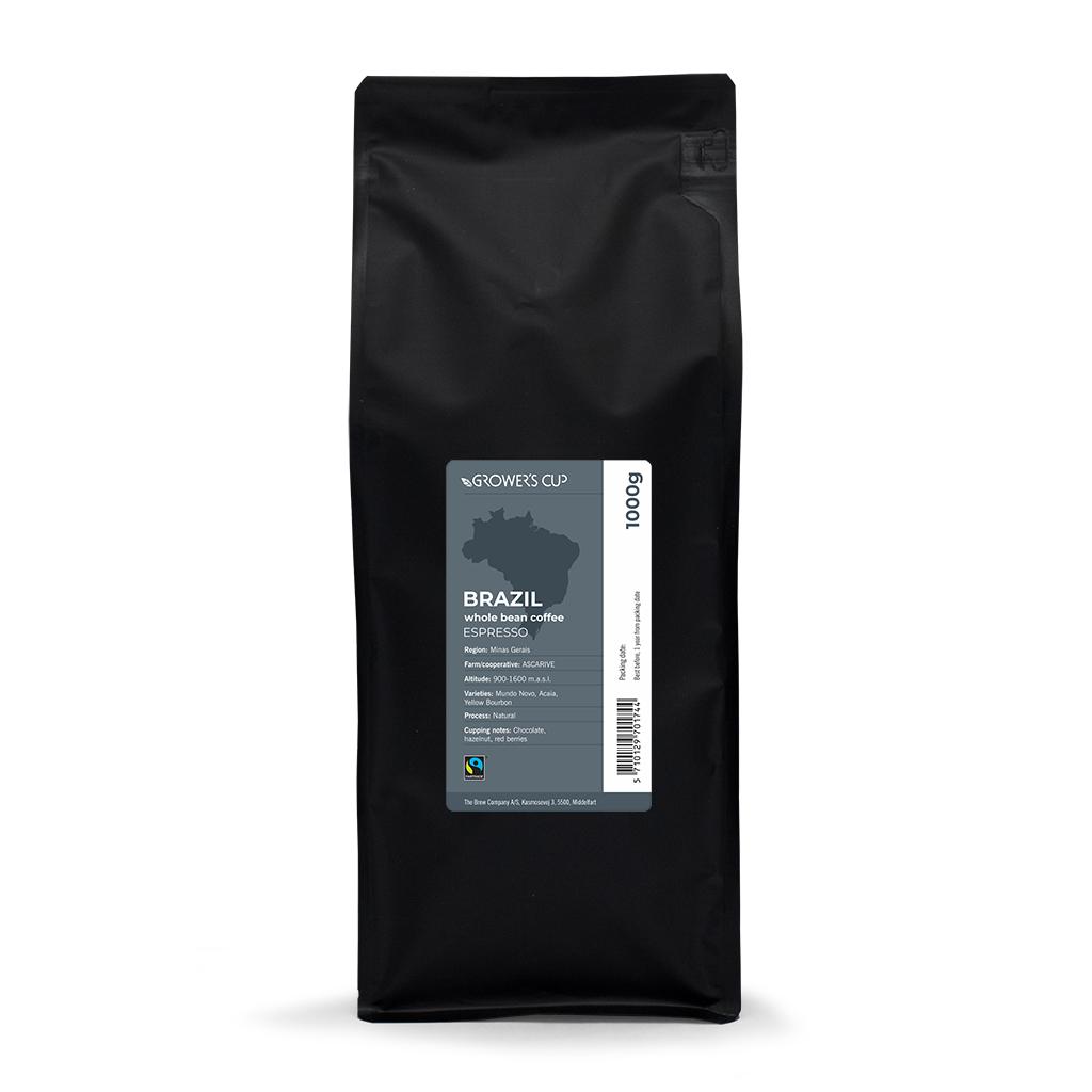 Whole beans, Brazil, Esp., Fairtrade, 1000 gr