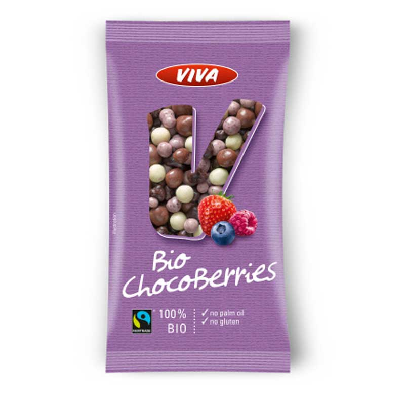 Bio FT Beeren Mix in dreierlei Schokolade 30g