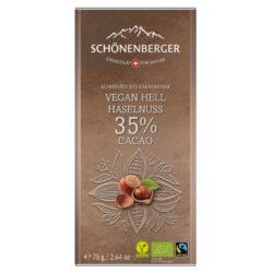 Tafelschokolade Vegan Hell mit Haselnuss
