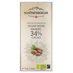 Tafelschokolade Vegan Weiss mit Mandel